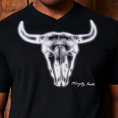 Kingsley Heath Illumino Skull V-Neck Mamba Tee
