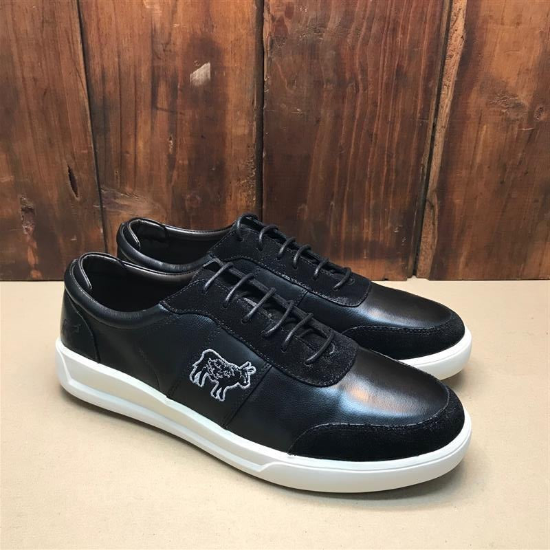 Kingsley Heath Embroidery Black/White Sneaker