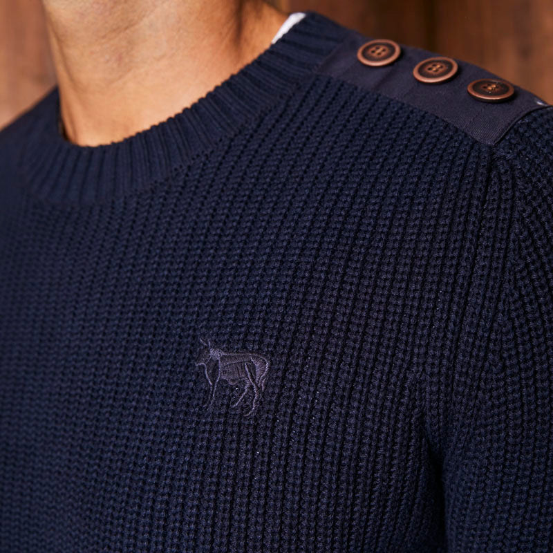 Simonstown Cruising Ribbed Midnight Pullover