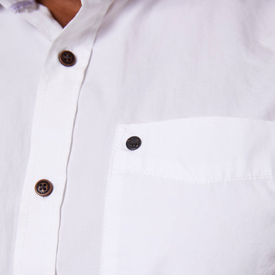 Classic Kingsley Heath Short Sleeve Slim Fit Pelican Shirt