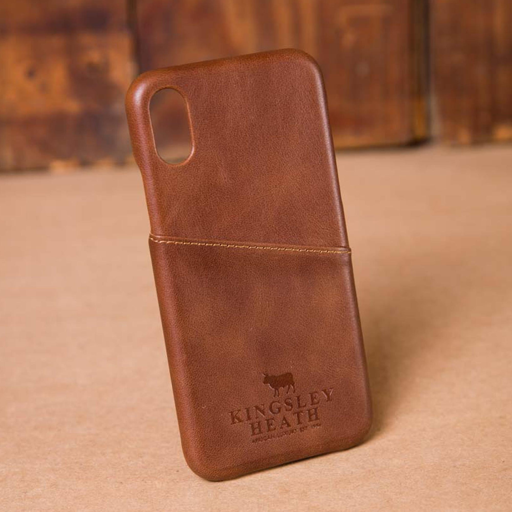 Iphone X Tan Leather Case