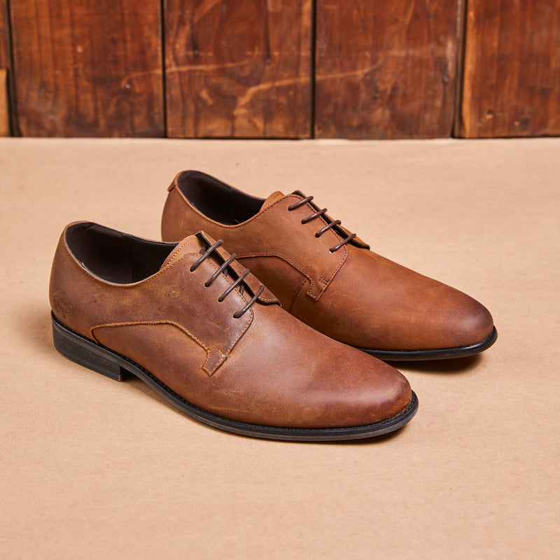 Kingsley Heath CG Lace Up Choc/Tan Shoe