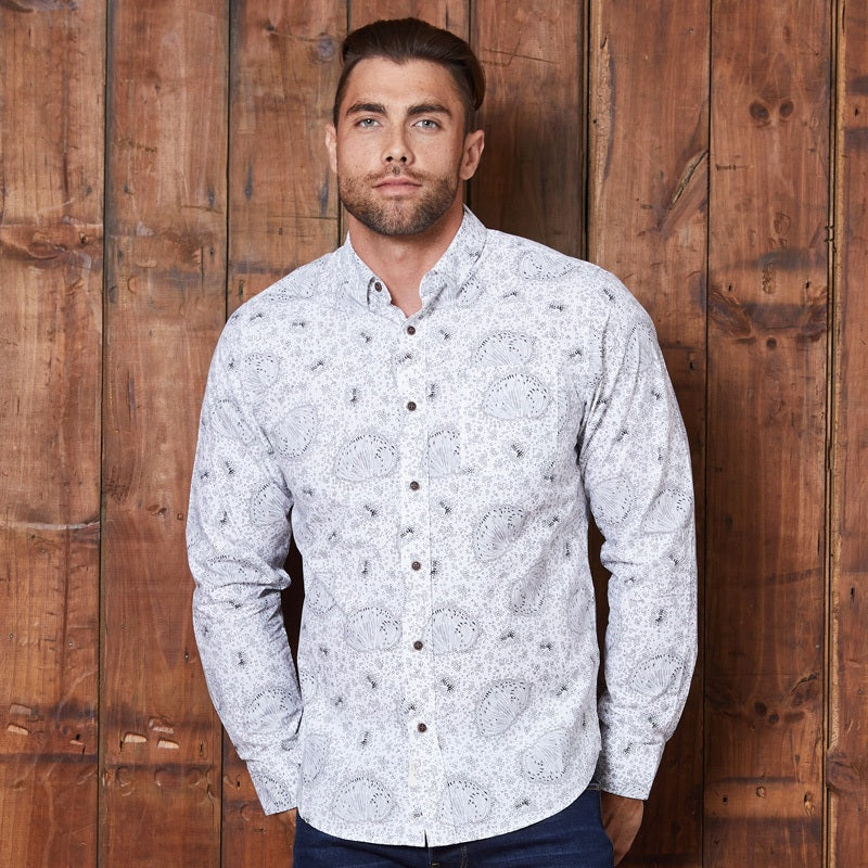 Floral Luxe Pf Muscle Fit Pelican Shirt