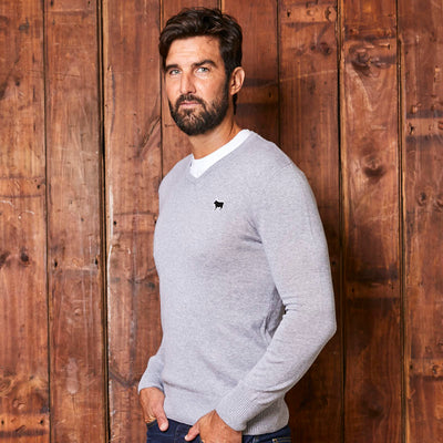 Kingsley Heath Classic V-Neck Vervet Pullover