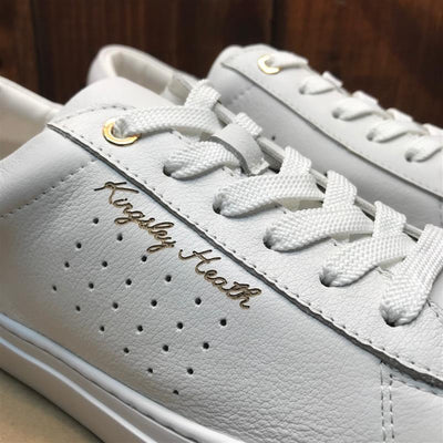 Kingsley Heath Luxe Script White/Rose Gold/White Sneaker