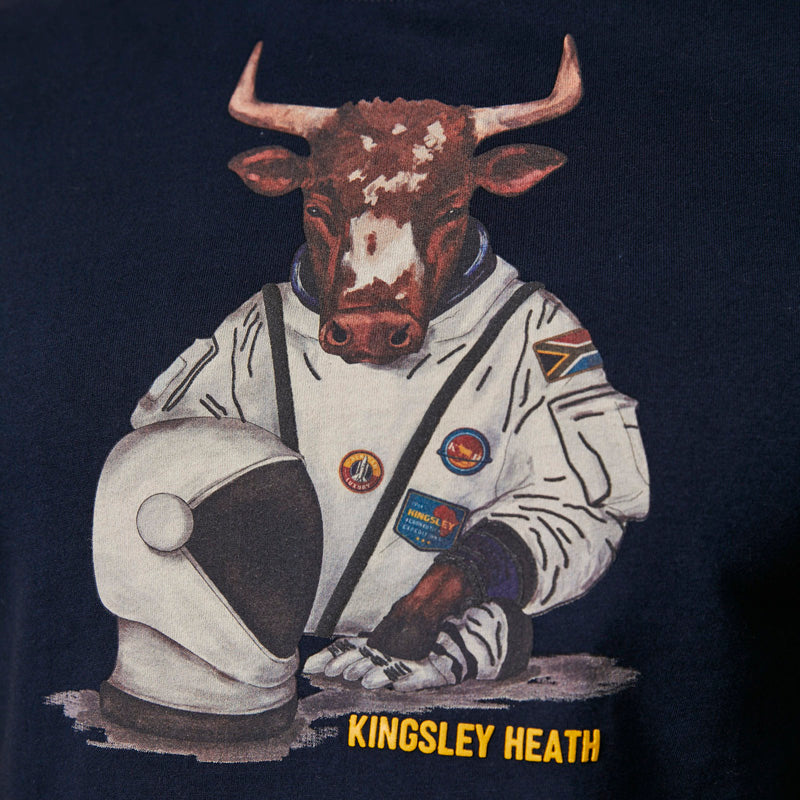 Kingsley Space Cow Crew Tee Midnight