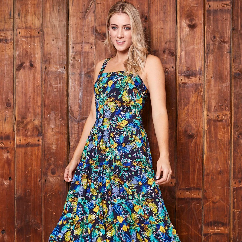 Kirstenbosch Fantasy Tiered Midnight Dress