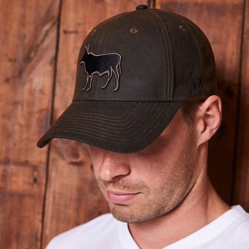 Waxed Nguni Logo Fatigue Cap