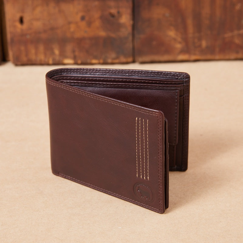 Kingsley Heath Disc Logo Card Holder Buffalo Wallet