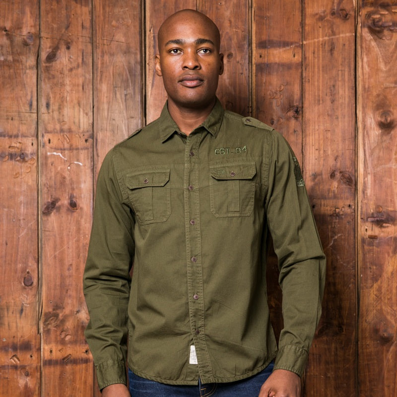 Overland Adventure Muscle Fit Fatigue Shirt