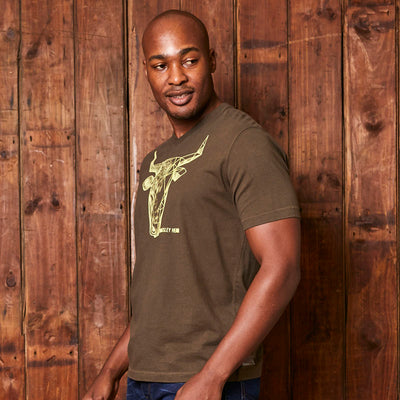 Classic 2 Face Nguni V-Neck Fatigue Tee