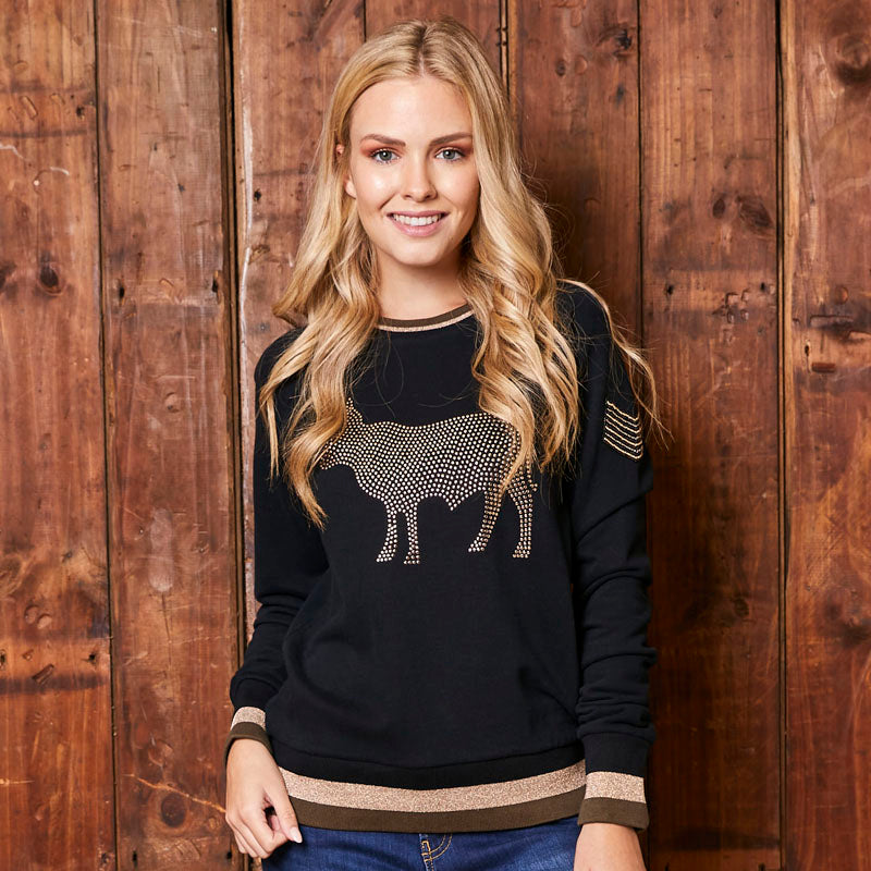 Luxe Studded Pull Over Mamba Sweater