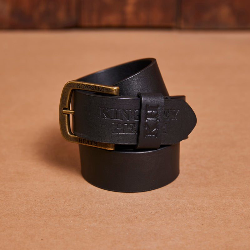 Kingsley Heath Logo Stitched Mamba/Brass Belt