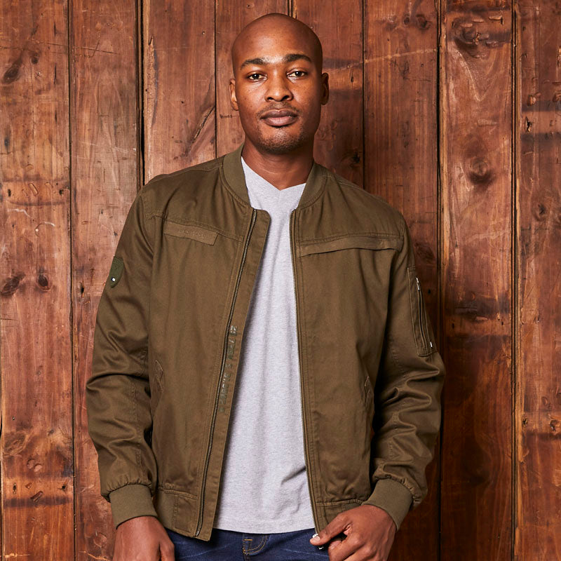 Kingsley Heath Luxe Bomber Fatigue Jacket