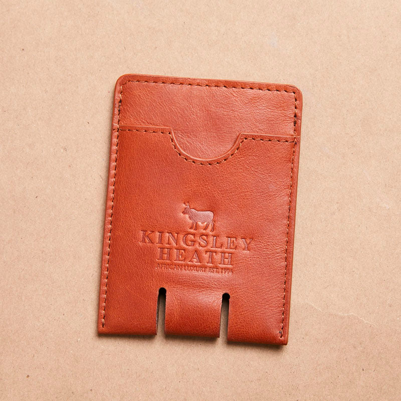 Kingsley Heath Push Up Card Tan Holder