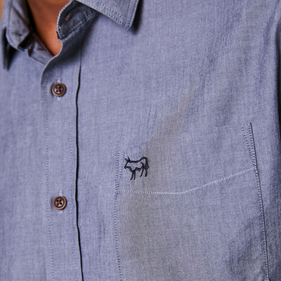 Classic Kingsley Heath Chambray Muscle Fit Midnight Shirt