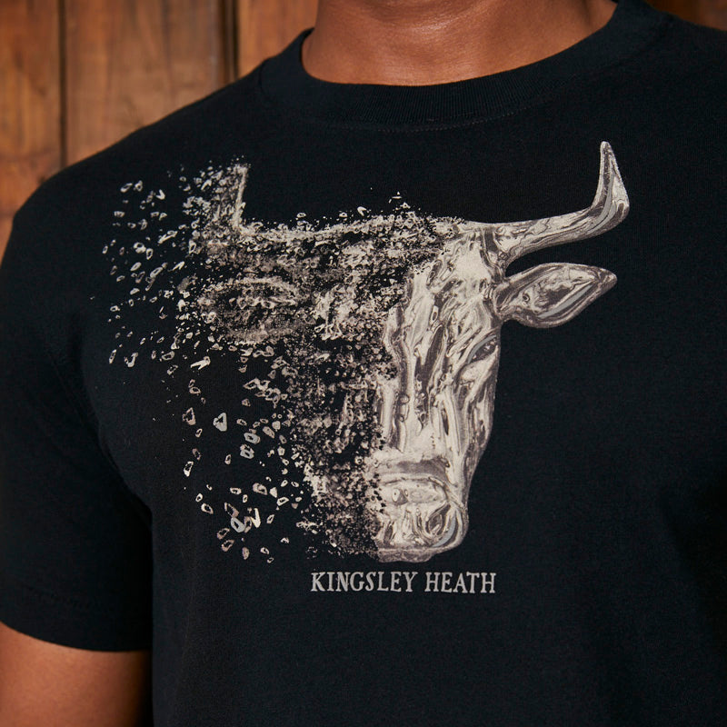 Kingsley Heath Liquid Skull Crew Mamba Tee
