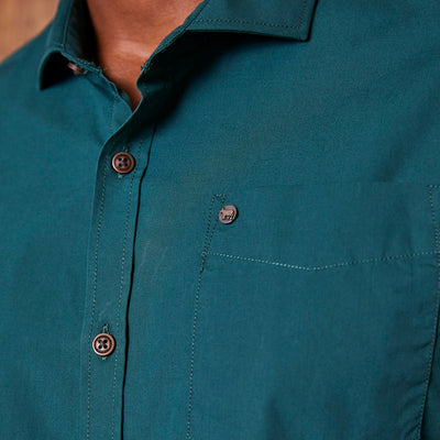 Kingsley Luxe Slim Fit Rain Forest Shirt