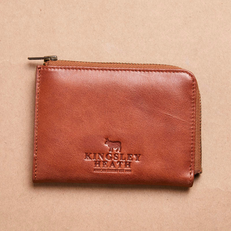 Kingsley Heath Zipped Tan Wallet