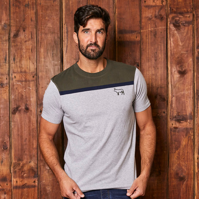 Kingsley Colour Block Crew Vervet Tee