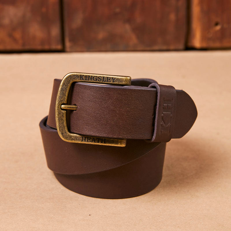 Kingsley Heath Nguni Tip Nos Buffalo/Brass Belt