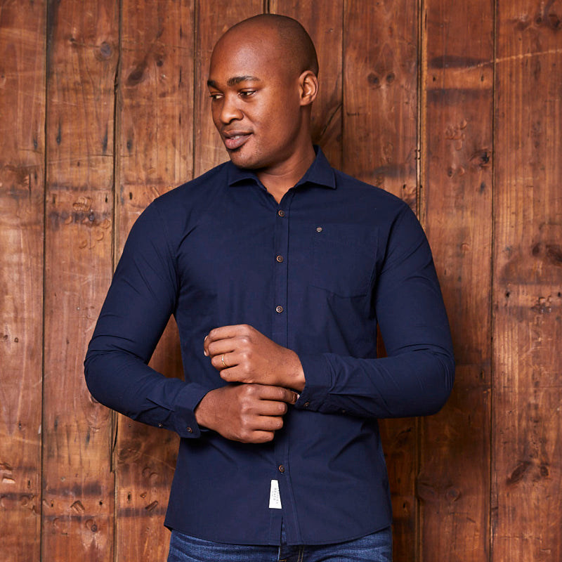 Kingsley Heath Timeless Lim Fit Midnight Shirt