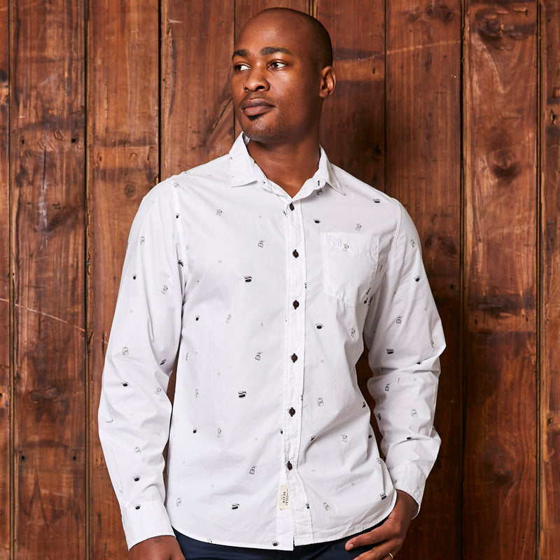 Finest Roast Slim Fit Pelican Shirt