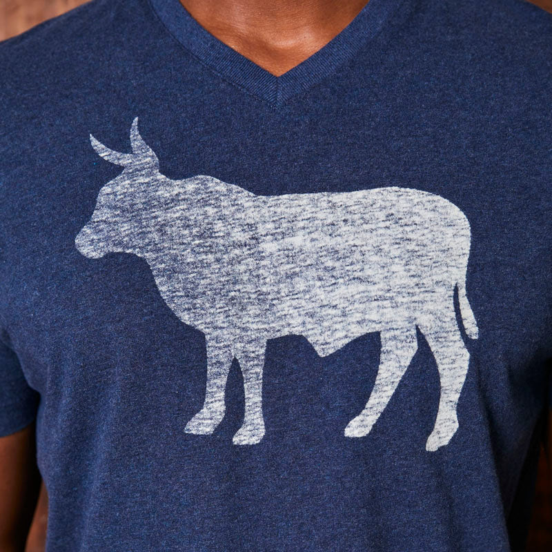 Big Nguni Reverse Print V-Neck Monarch Tee
