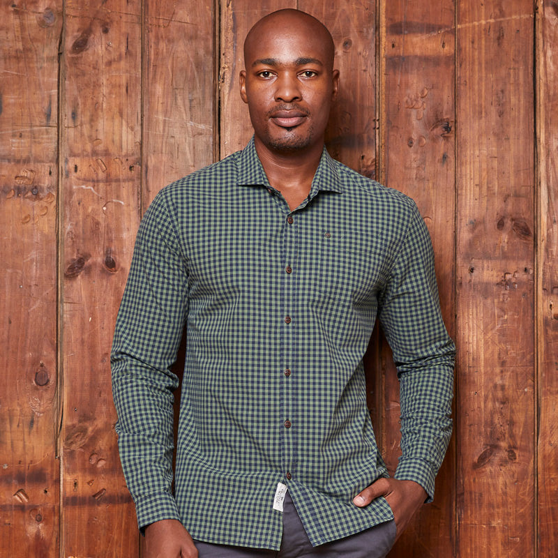 Steenberg Weekender Slim Fit Forest Shirt