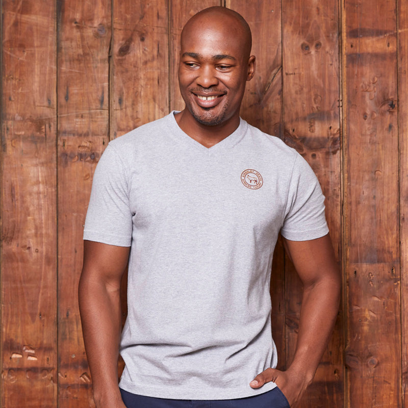Kingsley Heath Highsquare Badge V-Neck Vervet Tee