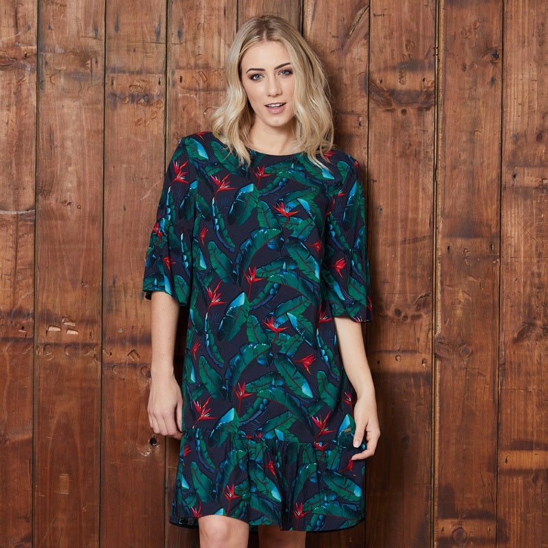Dark Flora Boho Midnight Tunic