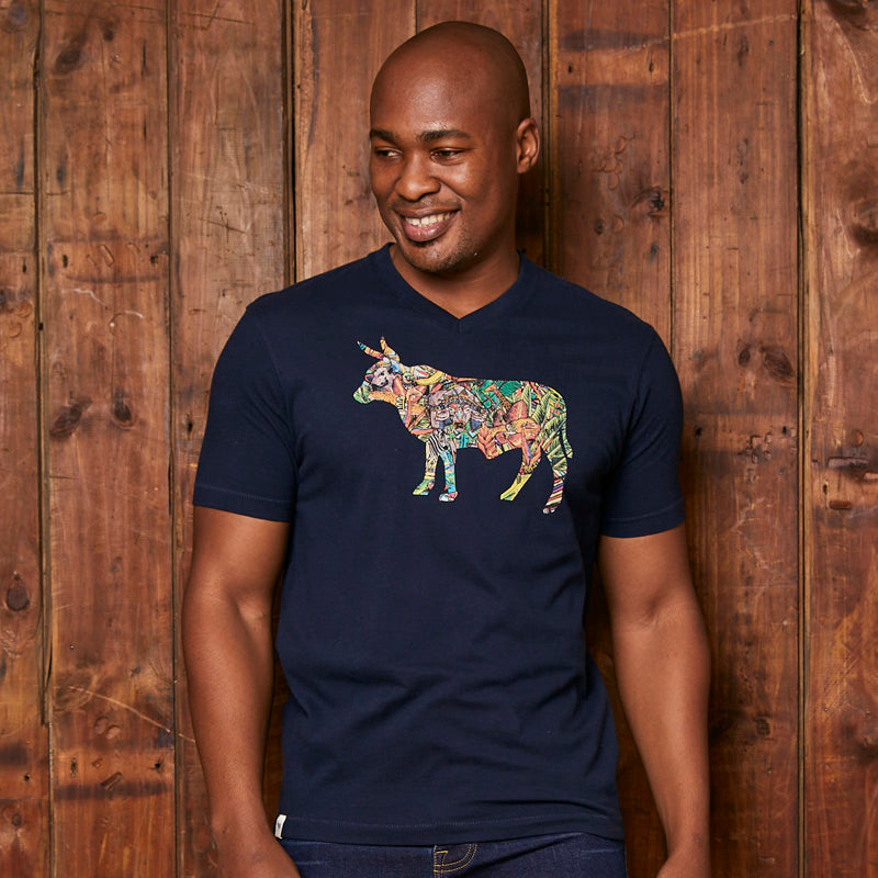 Jungle Carnival Infill V-Neck Midnight Tee