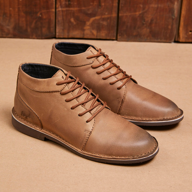 Kingsley Heath Bush Explorer Vellie Tan/Choc Boot