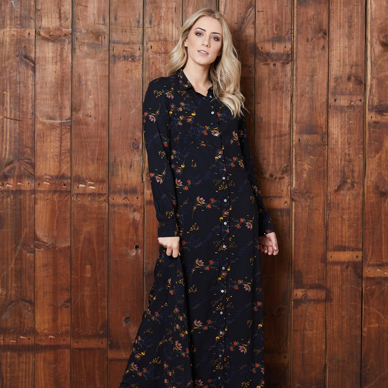 Dark Florals Maxi Mamba Dress