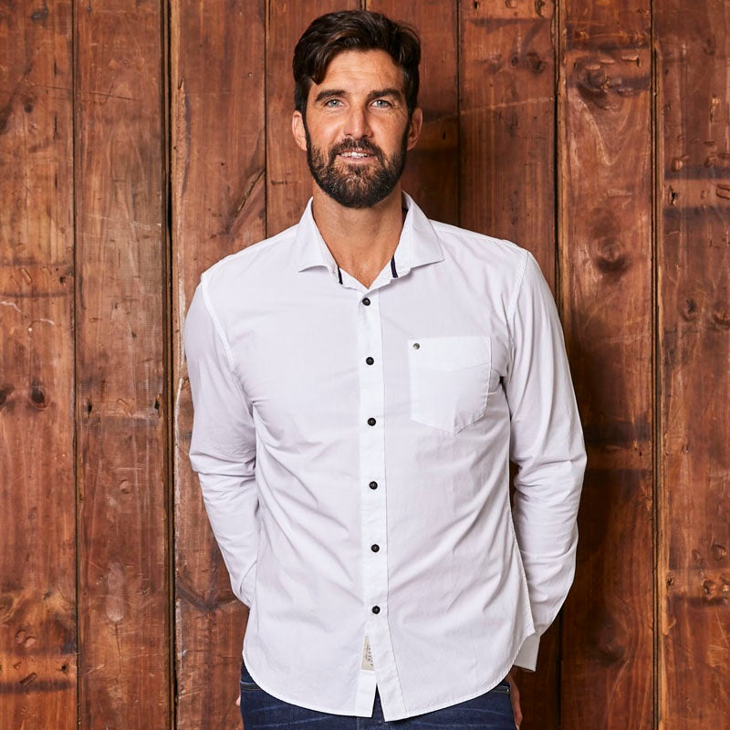 Classic Kingsley Slim Fit Pelican Shirt