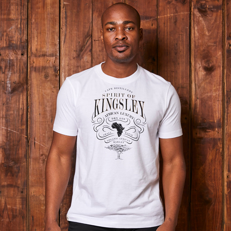Kingsley Heath African Craft Gin Crew Pelican Tee
