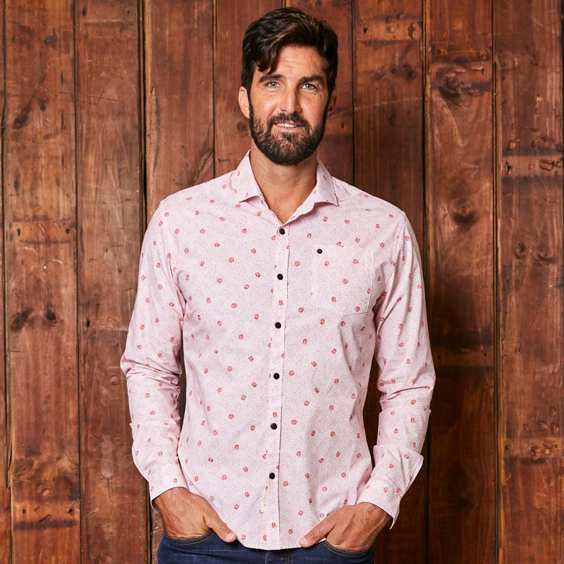 Faces Of Africa Slim Fit Pelican Shirt