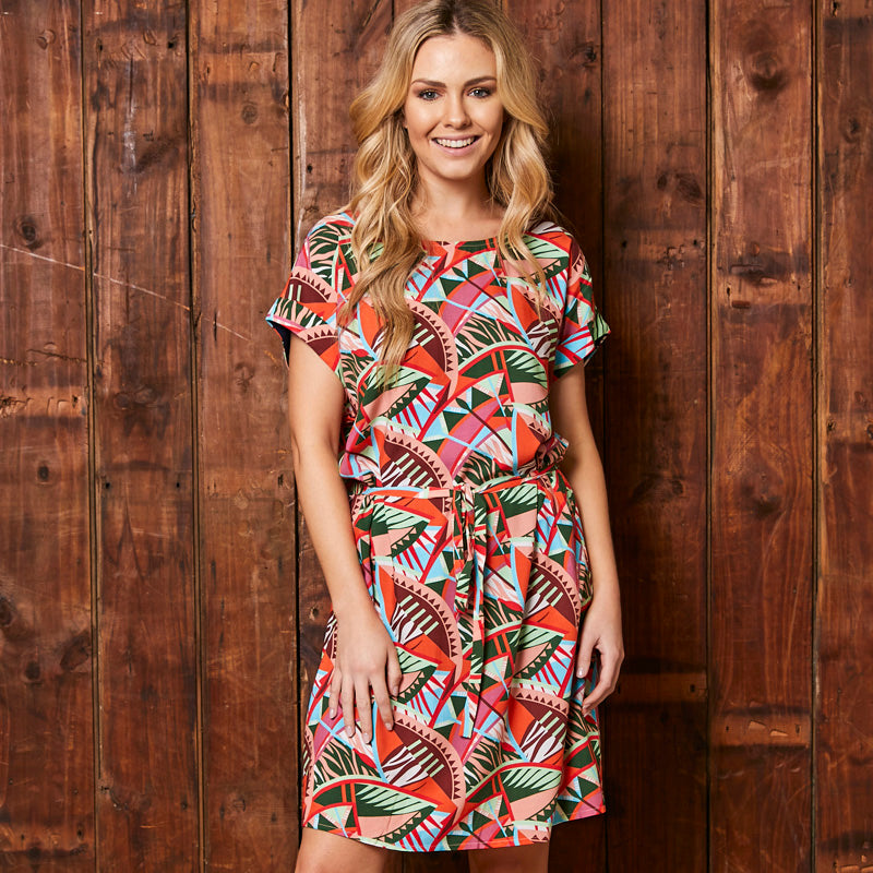 Kingsley Heath African Tribal Print Forest Tunic