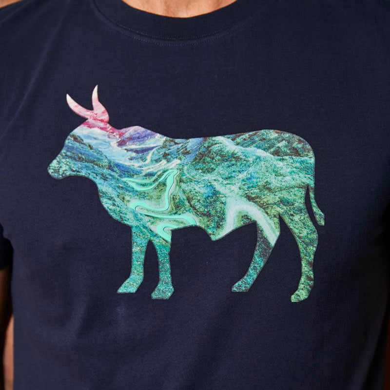 Majestic Berg Nguni Crew Midnight Tee