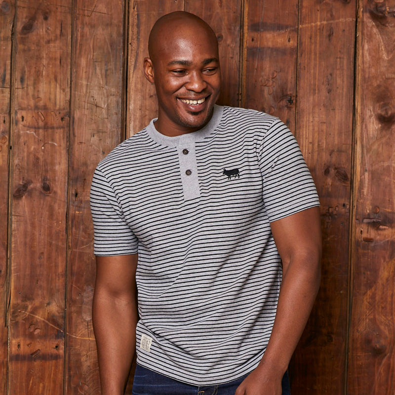 Timeless Kingsley Striped Vervet Henley