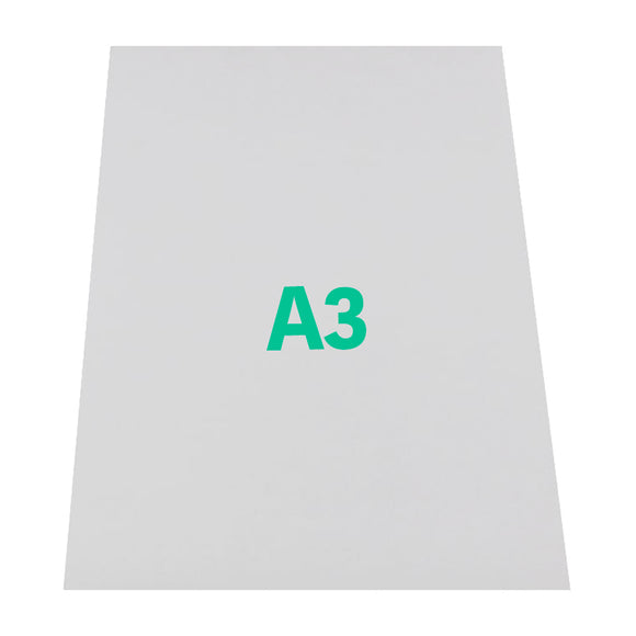 A3 Matte White Printable Magnetic Paper - 420mm x 297mm x 0.3mm (50 Pack)