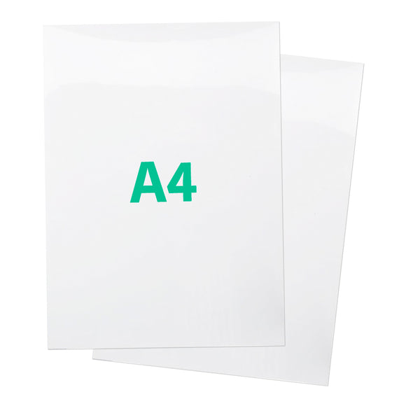 A4 White Gloss Magnetic Label - 210mm x 297mm x 0.8mm (1 PER PACK)