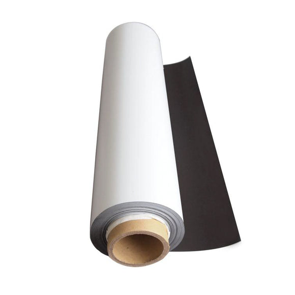 White Magnetic Sheeting - 620mm x 0.6mm (PER METRE)