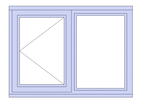 2 Light Standard Window (single opening)