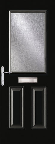 Black 1 Light Composite Door