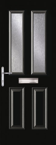 Black 2 Light Composite Door