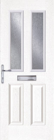 White 2 Light Composite Door
