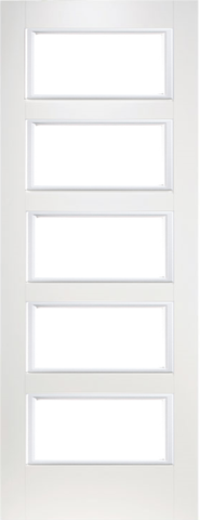 5 Panel Smooth Glazed Door
