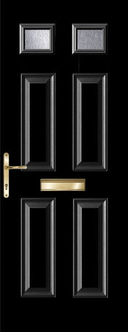 Black Top Light Composite Door