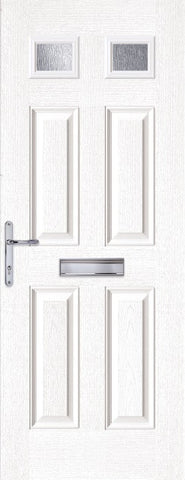 White Top Light Composite Door